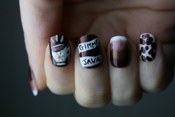 10 Caffeinated Coffee Nail Art Designs-2