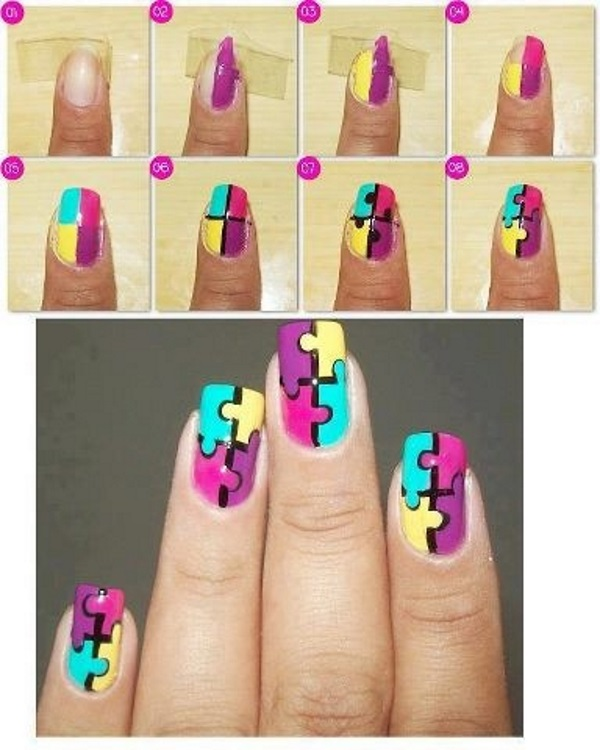12 Easy Nail Art Tutorial Ideas to Try-2