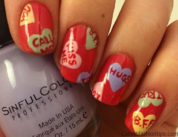 18 Lovely Heart Nail Designs-5