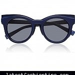 Self-Portrait x Le Specs Luxe Edition Three Sunglasses in Matte Navy as seen on Reese Witherspoon