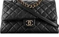 Chanel Flap Bag with Top Handle as seen on Rosie Huntington-Whiteley