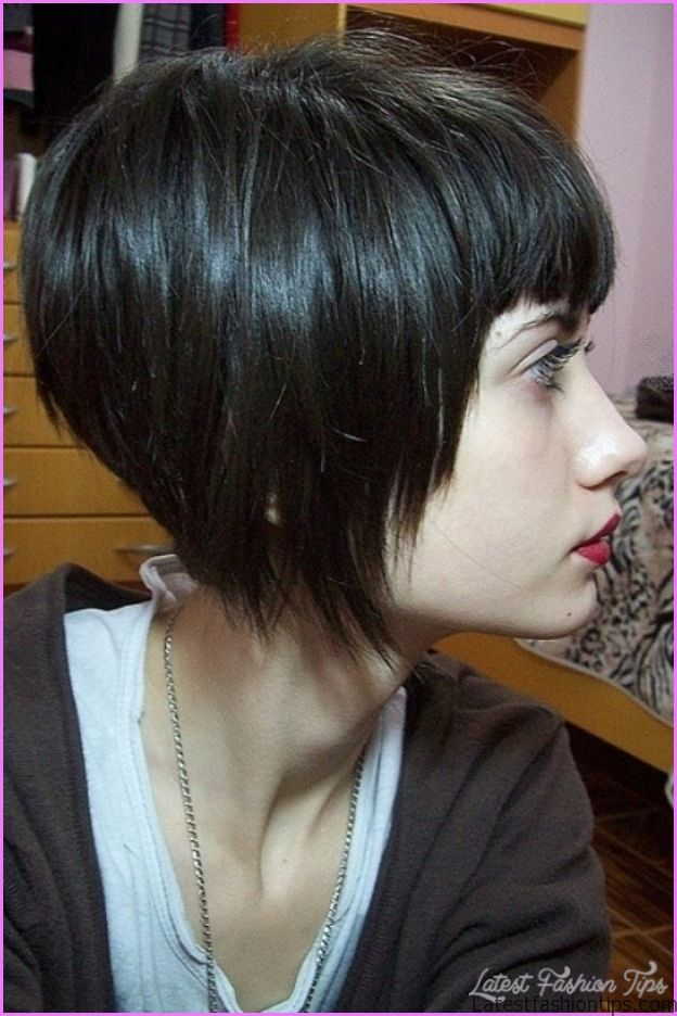 Angled Bob Haircut Bangs Latestfashiontips