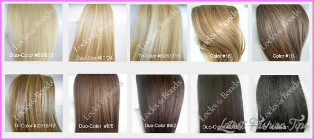 Blonde hair color shades chart
