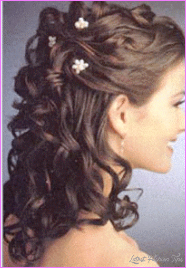 Wedding Hairstyles For Medium Hair With Bangs : Bridal hairstyles half up medium length latest fashion tips