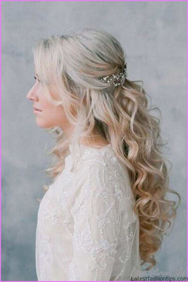 bridal hairstyles long hair half up. Black Bedroom Furniture Sets. Home Design Ideas