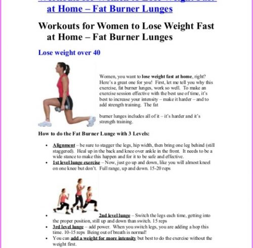 Exercises To Lose Weight Fast At Home Without Equipment