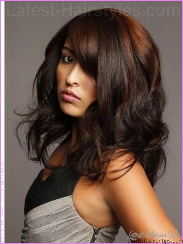 dark hair with copper highlights latestfashiontipscom