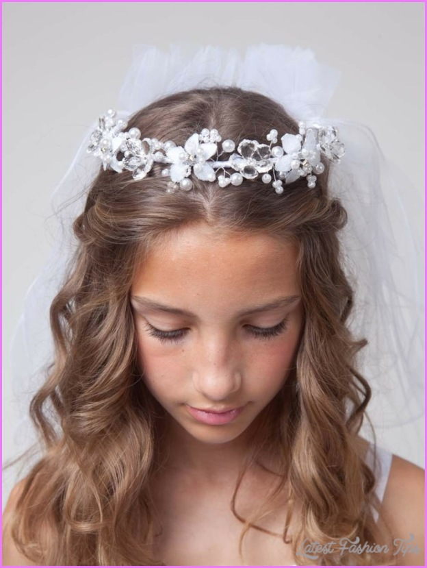 First Communion Hairstyles Long Hair - LatestFashionTips.com ®
