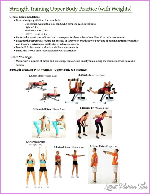 Upper Body Weight Exercises - LatestFashionTips.com
