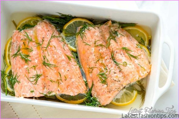 Baked trout with a white wine, lemon & dill butter sauce_0.jpg