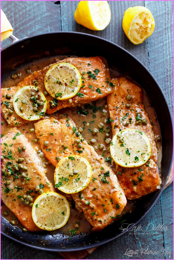 Baked trout with a white wine lemon dill butter sauce for White wine butter sauce for fish
