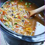 Slow Cooked Chicken Coriander Enchilada Soup_1.jpg