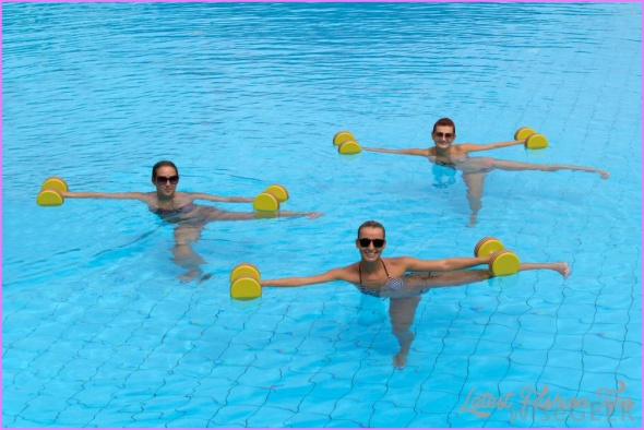 Water aerobics - really helps you in losing weight.