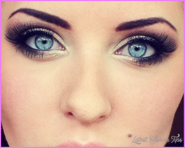 Eye makeup for blue eyes brown hair