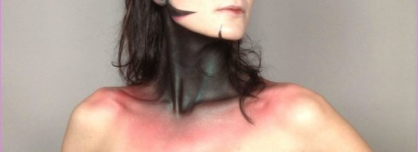 OC: As requested, more makeup! I did that blue tentacle thing a ...