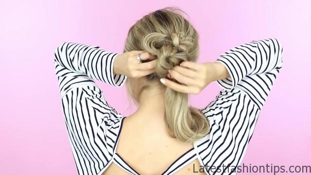 1 Week of Bun Hairstyles - Hair Tutorial 05