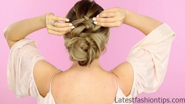 1 Week of Bun Hairstyles - Hair Tutorial 09