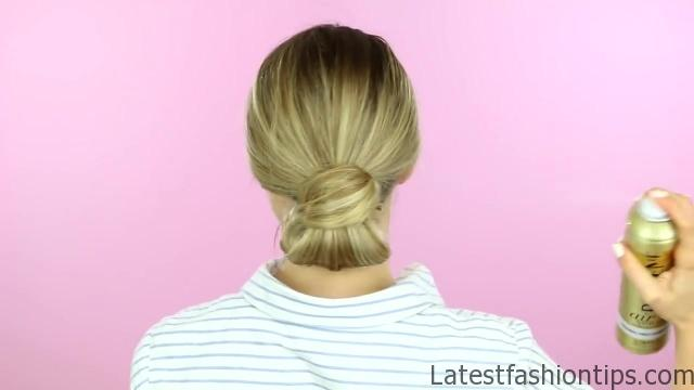 1 Week of Bun Hairstyles - Hair Tutorial 11