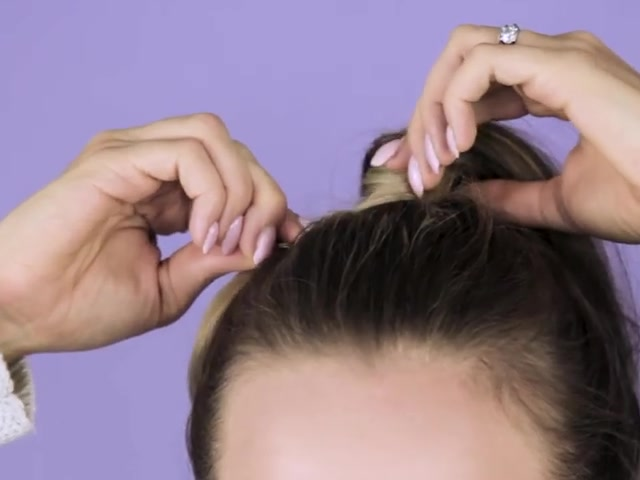 How to Wrap Your Hair Around a Ponytail 06