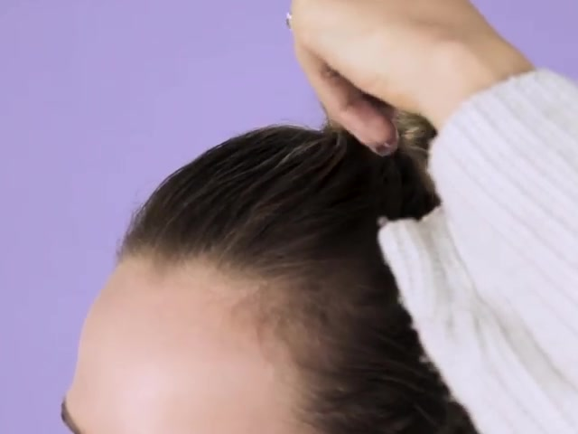 How to Wrap Your Hair Around a Ponytail 07