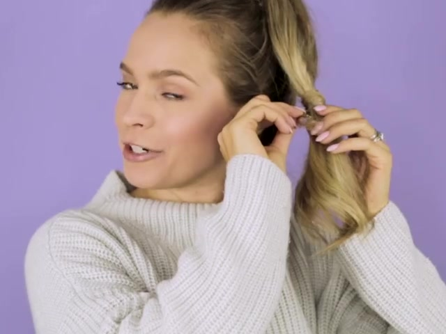 How to Wrap Your Hair Around a Ponytail 10