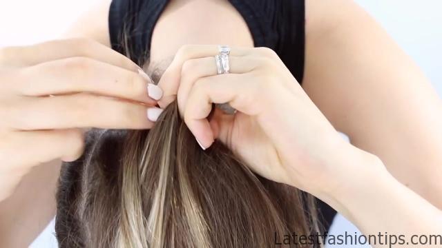 Spine Braided Bun Hair Tutorial Inspired 06