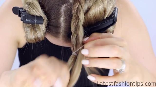 Spine Braided Bun Hair Tutorial Inspired 07