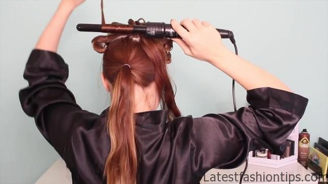 1920's Faux Bob, and Updo Tutorial!!_HD720 09