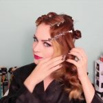1920's Faux Bob, and Updo Tutorial!!_HD720 13