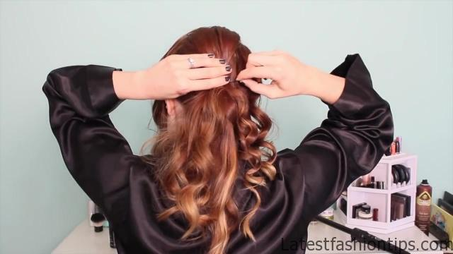 1920's Faux Bob, and Updo Tutorial!!_HD720 15