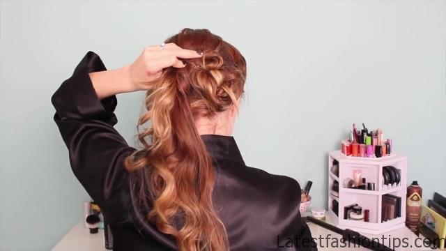 1920's Faux Bob, and Updo Tutorial!!_HD720 17