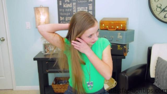 2-Minute Faux Fishtail Braid _ Cute Girls Hairstyles_HD720 6