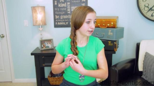 2-Minute Faux Fishtail Braid _ Cute Girls Hairstyles_HD720 9