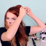 2 Ways to Make Cat Ears with Your Hair!_HD720 09