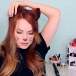 2 Ways to Make Cat Ears with Your Hair!_HD720 10