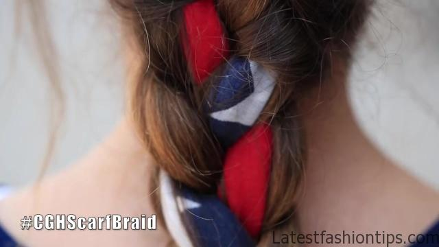 3-Minute Scarf Braid _ 4th of July Hairstyles_HD720 03