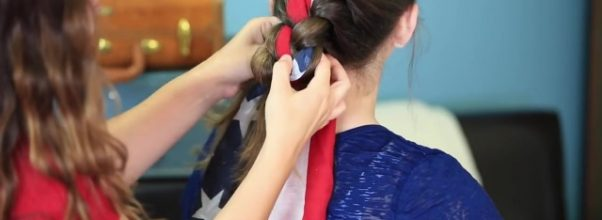 3-Minute Scarf Braid _ 4th of July Hairstyles_HD720 09