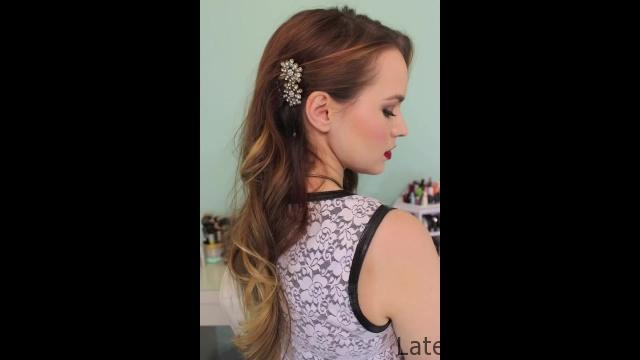 3 Quick Hairstyles for Sparkly Hair Accessories!_HD720 05
