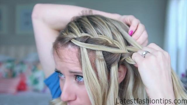 3-in-1 Cascading Waterfall _ Build-able hairstyle _ Cute Girls Hairstyles_HD720 09