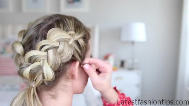 3-in-1 Double Dutch Braids_ Build-able Hairstyle _ Cute Girls Hairstyles_HD720 07