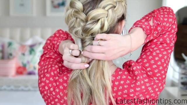 3-in-1 Double Dutch Braids_ Build-able Hairstyle _ Cute Girls Hairstyles_HD720 08