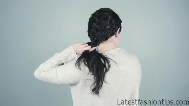 4 Braided hairstyles for Brunettes _ Dark Hair! - KayleyMelissa_HD720 09