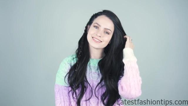 4 Braided hairstyles for Brunettes _ Dark Hair! - KayleyMelissa_HD720 11