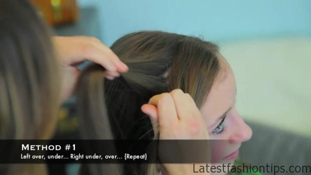 4-Strand Slide-Up Braid Cute Girls Hairstyles 05