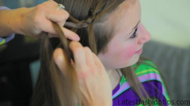 4-Strand Slide-Up Braid Cute Girls Hairstyles 07