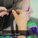 4-Strand Slide-Up Braid Cute Girls Hairstyles 08