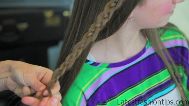 4-Strand Slide-Up Braid Cute Girls Hairstyles 12