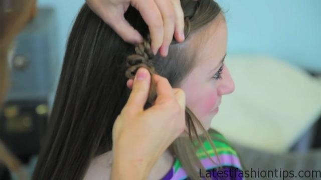 4-Strand Slide-Up Braid Cute Girls Hairstyles 13