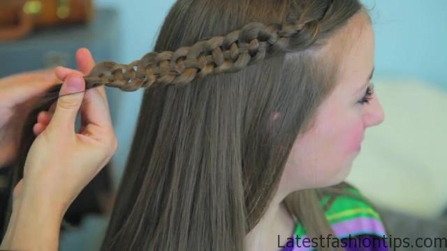 4-Strand Slide-Up Braid Cute Girls Hairstyles 14