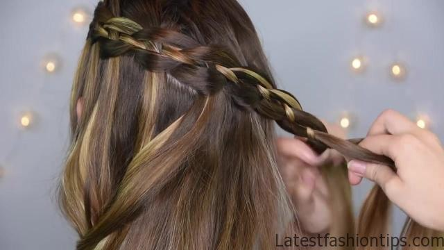 4 Strand Waterfall_ Half Up Hairstyle _ Cute Girls Hairstyles_HD720 9